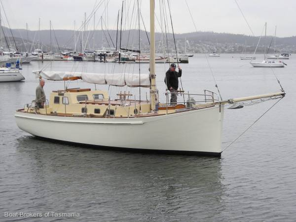 Gaff Rigged Sailboat For Sale http://www.boatsonline.com.au/boats-for-sale/used/sailing-boats/gaff-rigged-cutter-motorsailer/19688