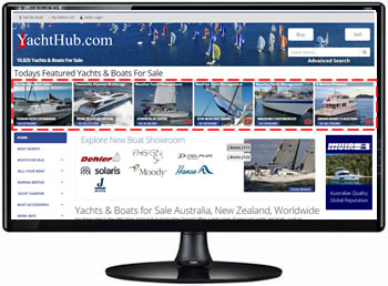 Homepage Featured Boat Advertising